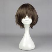 springcos Seraph of the end Yoichi Saotome Short Straight Hair Wig Brown