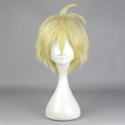 springcos Cosplay Seraph of the end Mikaela Hyakuya Short Wig Ombre Yellow