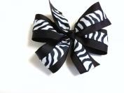 Girls Black and White Zebra Hair Bow Teen Hair Accessory with Zebra Barrette Animal Print Hair Clip