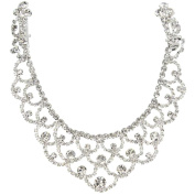 Seasofbeauty Crystal Rhinestone Bridal Headwear Headdress Hair Jewellery Pendant