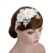Wedding Bridal Rhinestone Lace Headpiece Ribbon Headband