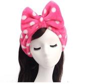 Huachnet Soft Caroset Cosmetic Headband-Polka Dots