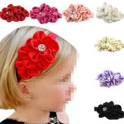 7Pcs Kids Baby Girls Chiffon Headband Hairbow Hairband Head Hair Flower Headwear Accessories