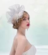 Exquisite Wedding Bridal Pearl Flower and Rhinestonel Head Dress
