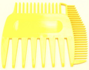 BeautyTeller 3 Way Unbreakable Diverse Fine Dust Pocket Comb 3 Side Pik Tooth Microbraiding Highlight Sectioning Black Yellow