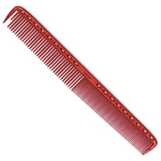 YS Park 335 Extra Long Fine Cutting Comb 22cm In Transparent RUBY RED