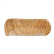 Breezelike No Static Mini Green Sandalwood Beard Comb