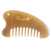 Breezelike No Static Ox Horn Pocket Wide Tooth Comb with Massage Function