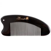 Breezelike No Static Horse Shaped Black Buffalo Horn Pocket Comb
