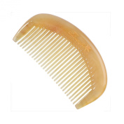 Breezelike No Static Oval Shaped Sheep Horn Pocket Comb