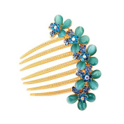 Ulike2 Ulike2 Bridal Hair Combs Flower Simulated Austrian Crystal Rhinestone Inserted Hairpin Hair Accessories