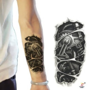 Men's Sexy Waterproof Temporary Tattoos Large Arm Fake Transfer Tattoo Stickers