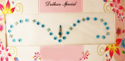 Blue Bridal Bindi Set