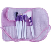 Popfeel® Professional Makeup Applicator Soft Brush Set for Face Flawless with Pink Roll On Pounch Bag
