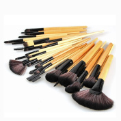 FOME 32 Pcs Super Professional Studio Brush Set with Pouch_Beige+FOME GIFT