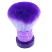 Popfeel® Purple Kabuki Face Brush Foundation Great for Blending Liquid, Cream & Mineral Cosmetics or Translucent Powder