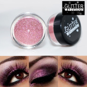 GlitterWarehouse Glitter Eyeshadow / Eye Shadow Shimmer Makeup Powder Champagne Pink
