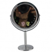 Popfeel® Stainless steel Tabletop 8.3cm Dual Sided Vanity Mirror With 3x Magnnfication,15cm Height