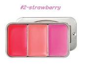 [SKINFOOD]Fresh Fruit Lip & Cheek Trio(2.5g*3) #2-strawberry