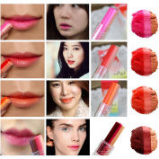 Easy Lifestyles New Korea Tint Bar Triple Shot Beautiful 3 Colours Lipstick Bitten Lips