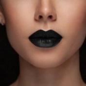 Blackest Black Matte Black Lipstick