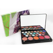 Naras 28 Colours Professional Essential Blush Eyebrow Powder and Eyeshadow With Mirror Makeup Kit Set