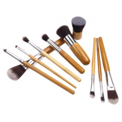 H88 - 10 Pcs Makeup Kabuki Brushes Set Foundation Blusher Eyeshadow Face Powder Tool