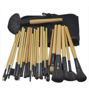 Lanova Beauty Professional 24pcs Cosmetic Synthetic Makeup Brush Set with Bag-Black