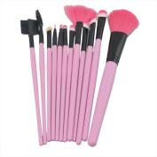 Lanova Beauty 12pcs Pure Synthetic Makeup Brush Set Makeup Cosmetics Hair Brush-Pink