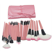 Lanova Beauty 32Pcs Professional Cosmetic Makeup Brushes Set Kit With Synthetic Leather Case