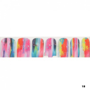 1 Pack Dazzling Nail Art Stickers Foils Glitter Full Adhesive Water Transfer Type Code10