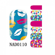 1 Pack Graceful Nail Art Stickers Wraps Foils Manicure Glitter Tips Style Code NAD0110