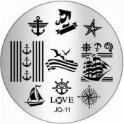 1Pc Marvellous Nail Art Stamping Fashion Decals Easy Attach Full Designs JQ-Series Type Code JQ11