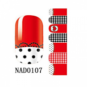 1 Pack Good-looking Nail Art Stickers Wraps Foils Self Adhesive 3D Colourful Style Code NAD0107