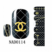 1 Pack Marvellous Nail Art Stickers Manicure 3D Colourful Decorations Style Code NAD0114