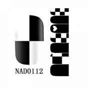 1 Pack Lovely Nail Art Stickers Water Transfer Decorations Wraps Foils Style Code NAD0112