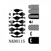 1 Pack Pleasing Nail Art Stickers Decorations Easy Attach Manicure Style Code NAD0115