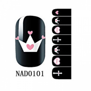 1 Pack Exquisite Nail Art Stickers Full Fashion Multi Mix Self Adhesive Style Code NAD0101