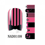 1 Pack Gorgeous Nail Art Stickers Wraps Foils 3D Colourful Multi Mix Style Code NAD0108