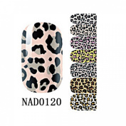 1 Pack Splendid Nail Art Stickers Self Adhesive 3D Colourful Full Fashion Style Code NAD0120
