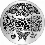 1Pc Splendid Nail Art Stamping Full Designs Decorations Template JQ-Series Type Code JQ14