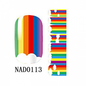 1 Pack Magnificent Nail Art Stickers Manicure Multi Mix Easy Attach Style Code NAD0113
