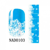 1 Pack Wise Nail Art Stickers Glitter Tips Decorations Wraps Foils Style Code NAD0103