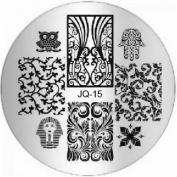 1Pc Brainy Nail Art Stamping Full Designs Manicure Stamper JQ-Series Type Code JQ15
