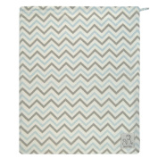 Zack & Tara Wet Bag - Chic Chevrons in Blue & Grey - Medium