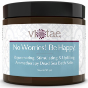 Rejuvenating, Stimulating & Uplifting Aromatherapy Dead Sea Bath Salts - Vi-Tae® 'No Worries! Be Happy!', 470ml