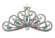 Mini Tiara Hair Comb Princess Crown Wedding Flower Girl Tiara 8.3cm