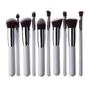 Unimeix® 10 pcs Premium Synthetic Kabuki Makeup Brush Set Cosmetics Foundation Blending Blush Eyeliner Face Powder Brush Makeup Brush Kit