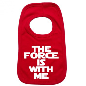 THE FORCE IS WITH ME PULLOVER BABY BIBS - Doubled Layered - (Red) - 100% Cotton Baby Newborn Toddler Perfect Gear Clothing Boy Girl Mum Dad Mummy Daddy Grow Gift Custom Present Birthday Christening play toy Cute - Machine Washable- by 123t