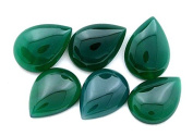 Two 18x13 Pear Green Agate Cab Cabochon Gem Stone Gemstone gac16